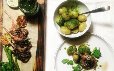 Char-grilled lamb chops
